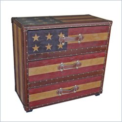 International Caravan Americana Stars and Stripes 3-Drawer Chest