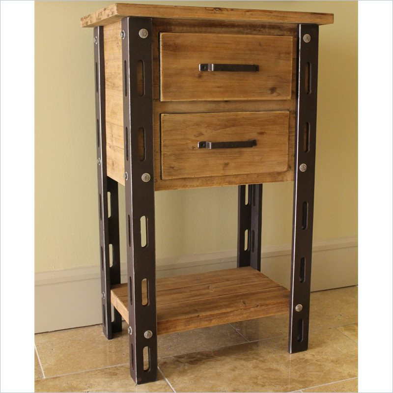 Aledo Antique 2-Drawer Indoor Tall Table