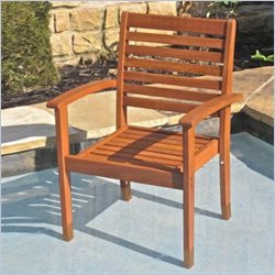 International Caravan Royal Tahiti Oslo Chair in Balau Stain(Set of 2)