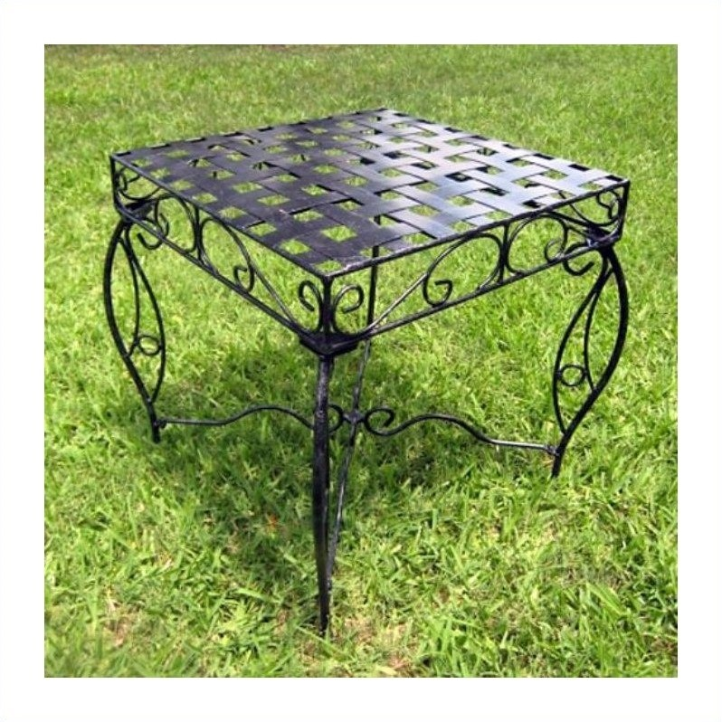 Mandalay 20-Inch Iron Patio Side Table