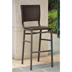 Resin Wicker/Aluminum Patio Bar Stool (Set of 2)