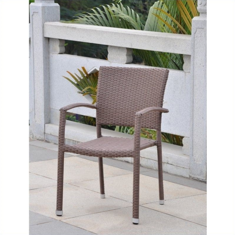 Barcelona Patio Chair in Antique Brown(Set of 4)