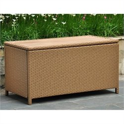 International Caravan Barcelona Storage Trunk in Honey