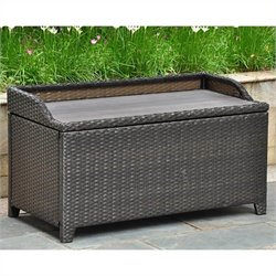 International Caravan Barcelona Patio Bench/Trunk in Antique Black