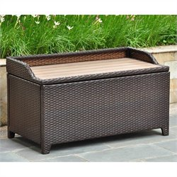 International Caravan Barcelona Patio Bench/Trunk in Chocolate