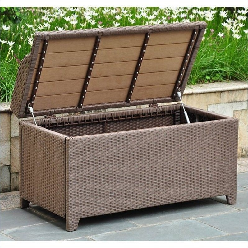 Patio Bench/Trunk in Antique Brown