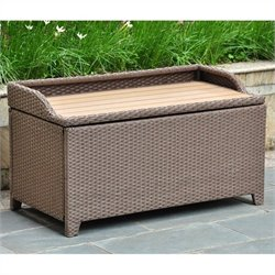 International Caravan Barcelona Patio Bench/Trunk in Antique Brown