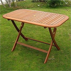 International Caravan Royal Tahiti 48-inch Folding Patio Dining Table
