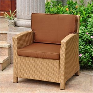 International Caravan Barcelona Patio Chair in Honey and Chocolate