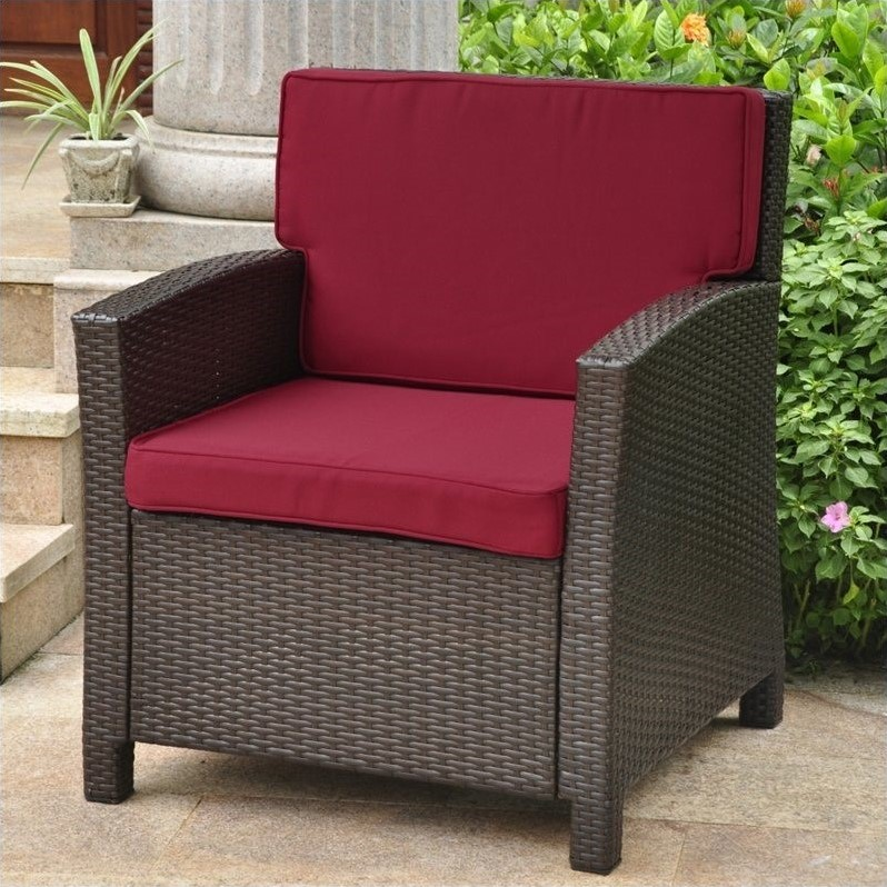 Outdoor Patio Chair in Chocolate and Merlot