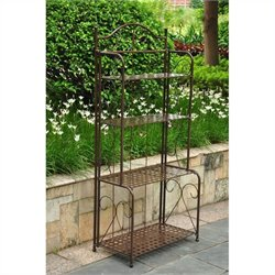 Iron 4-Tier Folding Indoor/Outdoor Bakers Rack