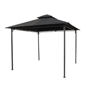 International Caravan Hamilton Outdoor Canopy Gazebo in Black
