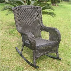 International Caravan San Tropez Resin Wicker/Aluminum Patio Rocker