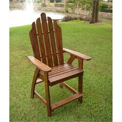 International Caravan Palmdale Adirondack Patio Bar Chair (Set of 2)