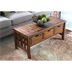 International Caravan Highland Acacia 38-Inch Indoor/Outdoor Patio Bench