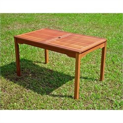 International Caravan Palmdale Outdoor Rectangular Dining Table