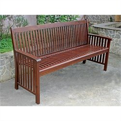 International Caravan Palmdale 3-Seater Patio Garden Bench