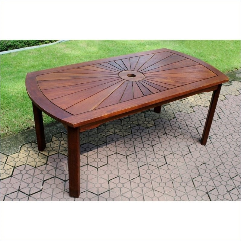 International Caravan Palmdale Sunrise Patio Coffee Table