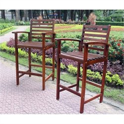 International Caravan Palmdale Patio Bar Stool (Set of 2)