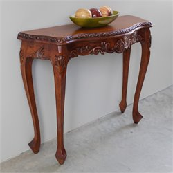 International Caravan Windsor Console Table in Walnut