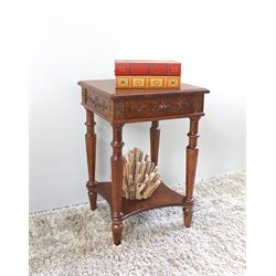 International Caravan Windsor Square End Table in Walnut