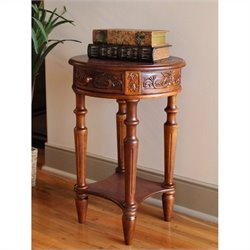 International Caravan Windsor Round End Table in Walnut