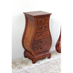 International Caravan Windsor 5 Drawer Bombay Accent Chest in Walnut