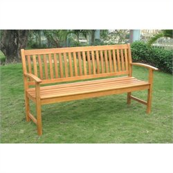 International Caravan Royal Tahiti Outdoor Garden Bench