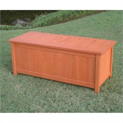 International Caravan Royal Tahiti Outdoor Patio Storage Bench