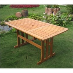 International Caravan Royal Tahiti Rectangular Outdoor Patio Dining Table