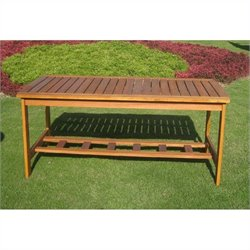 International Caravan Royal Tahiti Rectangular Outdoor Patio Coffee Table