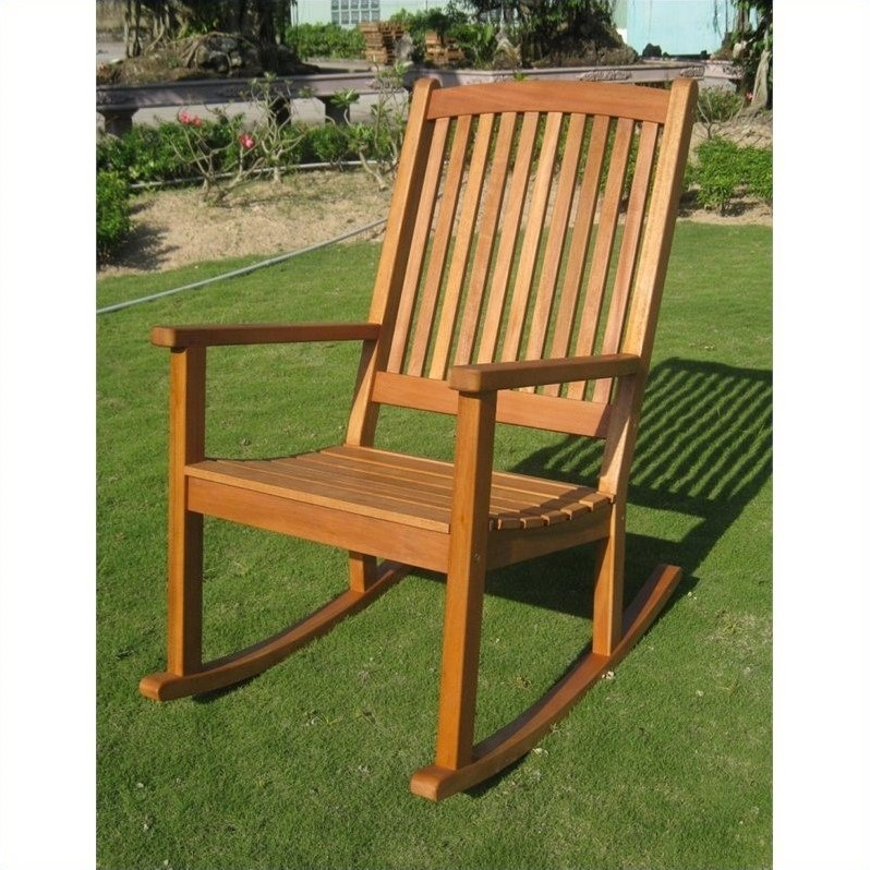 International Caravan Royal Tahiti Outdoor Patio Rocking Chair