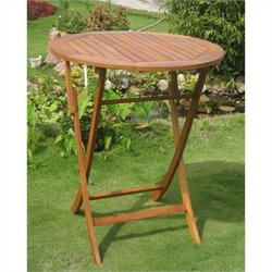 International Caravan Royal Tahiti Folding Outdoor Patio Pub Table