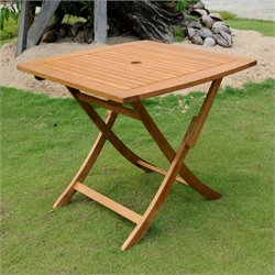 International Caravan Royal Tahiti Folding Outdoor Patio Dining Table