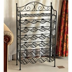 International Caravan Mandalay 24 Bottle Wrought Iron Wine Rack