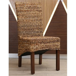 Gaby Woven Abaca Dining Chair (Set of 2)