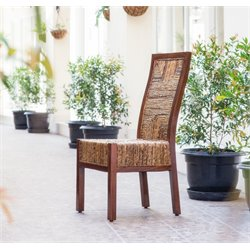 International Caravan Bali Dallas Woven Abaca Dining Chair