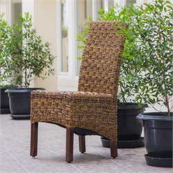 International Caravan Bali Manila Woven Abaca Dining Chair (Set of 2)