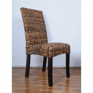 Woven Abaca Cushion Dining Chair