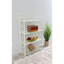 International Caravan Camden Folding Bakers Rack in White