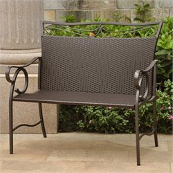 International Caravan Valencia Patio Garden Bench in Chocolate