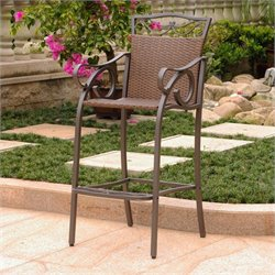 International Caravan Valencia Patio 2 Piece Bar Stool in Brown