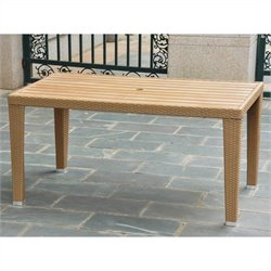 International Caravan Barcelona Patio Dining Table in Honey