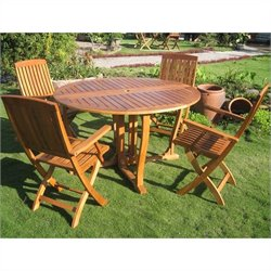 International Caravan Marbella 5 Piece Wood Patio Dining Set