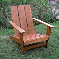 International Caravan Large Adirondack Patio Chair in Honey Pecan