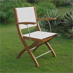 International Caravan Royal Tahiti Set of 2 Patio Chair in Natural