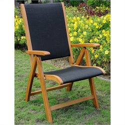 International Caravan Royal Tahiti Multi-Positon Balau Patio Dining Chair