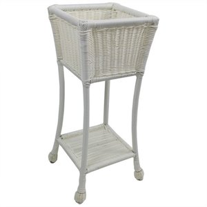 2 Tier Outdoor Plant Stand in White