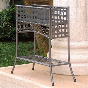 2 Tier Plant Stand in Pewter