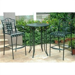 3 Piece Patio Bistro Set in Vertigris
